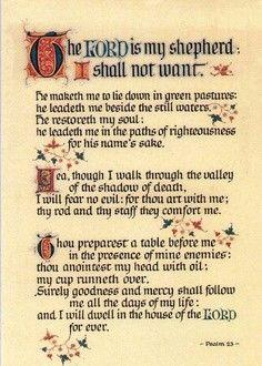 psalm kjv 23