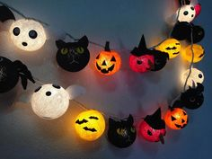 Halloween set cotton ball string lights Cotton ball string lights for Halloween night, Halloween Lights, Party Lights, Kids Party