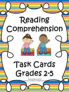 Reading Comprehension Task Cards from Educating Everyone 4 Life on TeachersNotebook.com (26 pages)  - Reading Comprehension Task Cards ~ Great in Centers and To Use As Standardized Test Practice