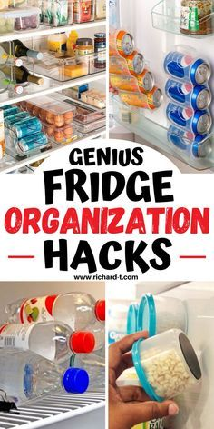 Kitchen Organization Pantry, Refrigerator Organization, Home Organization Hacks, Dollar Store Organization, Organize Fridge, Declutter Your Home, Organizing Your Home, Useful Life Hacks, Cleaning Hacks