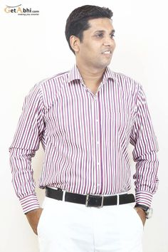 http://tinyurl.com/z4ua58q Express the real you when you wear this Stripes Cherry colored formal shirt. It will also give a flattering and stylish fit to virtually any body type.