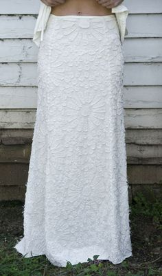 Facets Long Skirt  Alabama Chanin Bridal