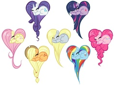 My Little Pony heart shaped ponies. I love this.