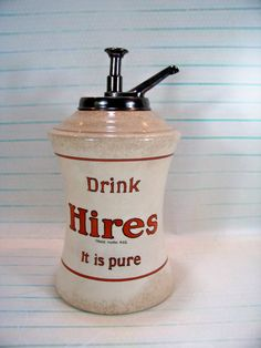 Antique Hires Root Beer Syrup Dispenser by SundriesandSalvage
