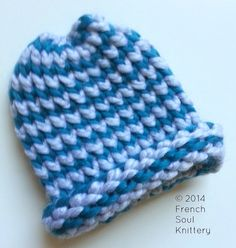 Teal and Light Grey Knitted Newborn by FrenchSoulKnittery on Etsy, $25.00 #baby #newborn #infant #newbornhat #babyhat #babyclothes #newbornbeanie #frenchsoulknittery