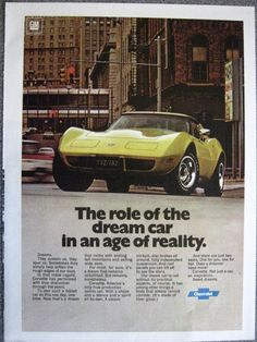 1977 Corvette Advertisement