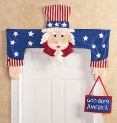 Patriotic-Uncle-Sam-Above-the-Door-Banner-Door-Hugger-4th-of-July-Decor