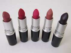 The five quintessential MAC lipsticks.