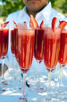 Strawberry Mimosas | CostMad do not sell this idea/product. Please visit our blog for more funky ideas