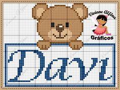 In loc de David sa fie Radu Cross Stitch Art, Cross Stitching, Cross Stitch Embroidery, Crochet Stitches Patterns, Cross Stitch Patterns, Pixel Crochet Blanket, Beautiful Crochet, Knitting Projects, Teddy Bear