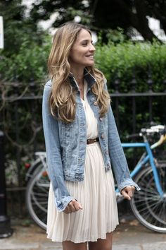 Was wondering what to wear with my Denim Jacket- perfect solution, now I need to find a cute dress to wear it with!