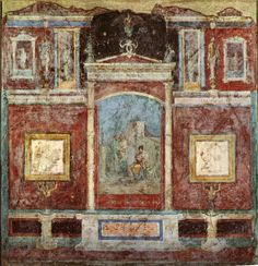 In pictures: Ancient Roman paintings, Villa della Farnesina, Rome Rome Antique, Art Antique, Rome Painting, Mural Painting, Art Et Architecture, Pompeii And Herculaneum, Pompeii Italy, Empire Romain, Classical Antiquity