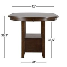 Tuscany Brown Wood Wine Rack Counter Height Extending Dining Table By TRIBECCA HOME