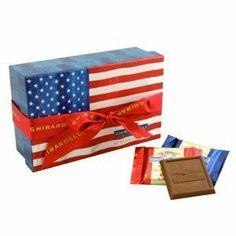 Ghirardelli Chocolate Patriotic Squares Chocolates