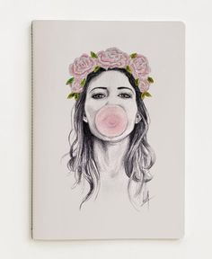 Bubble Art Print by Libby Watkins Pencil Drawing Tutorials, Pencil Drawings, Art Drawings, Drawing Faces, Art And Illustration, Case Iphone 6s, Iphone 7, Girls With Flowers, Bubble Art