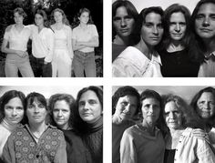 Nicholas Nixon's 'the Brown Sisters' was first published as a 25 year annual portrait of his wife and her 3 sisters. It has since been released as an extended, 30 year series. A simple idea that took commitment  and was beautifully executed. Seeing the passage of time through this project has great impact.