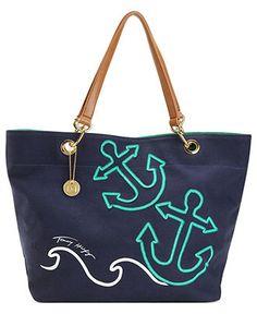 Tommy Hilfiger Handbag, Canvas Sail Tote - Handbags & Accessories - Macy's