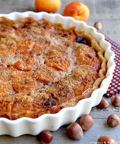 Tarte aux noisettes et abricots Cheesecakes, So Little Time, Great Recipes, Dessert Recipes, Homemade, Cooking, Quiches, Pizza, Food Cakes