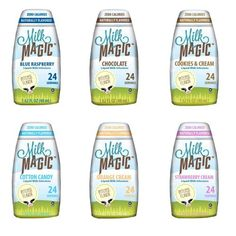 Milk Magic Liquid Milk Infusions, Ultimate Variety Pack, 1 of each flavor - Chocolate, Strawberry Cream, Orange Cream, Cookies & Cream, Cotton Candy, Blue Raspberry, No Artificial Flavors or Preservatives, Gluten Free, Naturally Sweetened by Stevia Leaf Extract -- (Pack of 6 1.62 Fl Oz Bottles) Milk Magic http://www.amazon.com/dp/B00KRMFREK/ref=cm_sw_r_pi_dp_TgACvb13DHXAX