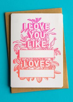 LOVE these Valentines cards from The Hungry Workshop, what would you write?