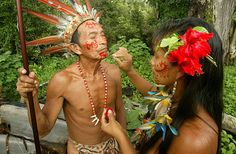 Ariau's People, native Amazonian tribes   Photo Gallery   Images of the Amazon   Ariau's People, Animals, Ariau Structure, Rooms, Environment   Ariau Amazon Towers Hotel   Rainforest near Manaus, Brazil
