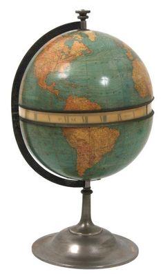 Rare G.W. Gamage Patented Time Globe