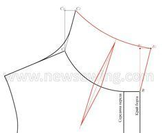 Высокий воротник-стойка цельнокроеный с лифом