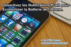 Ecran iphone avec des notifications