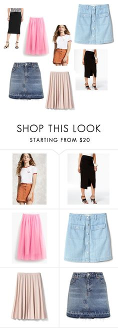 """Spring Skirts"" by redenjewelry on Polyvore featuring Forever 21, Alfani, J.Crew, Gap, Banana Republic, Topshop and Old Navy"