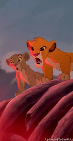 """Simba and Nala, """"pick on someone your own size."""""""