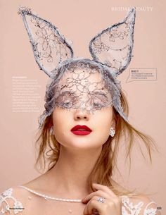 "Rosie Tupper in ""Pretty Please"" by David Vasiljevic for UK Elle Wedding Autumn / Winter 2014"