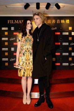 Jamie Campbell Bower and Lily Collins at the Hong Kong premiere of Breaking Dawn Part 2, Dec 12