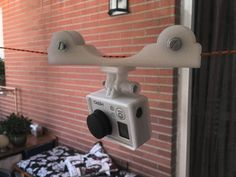 Fbuenonet's Simple CableCam Dolly makes it easy to get those tough shots. Print it, pop a camera in there, and send it on its way! http://thingiverse.com/thing:391146
