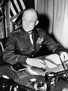 General Dwight Eisenhower, Supreme Commander, Allied Forces During World War II, 18 January, 1944