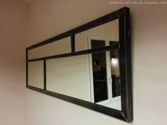 miroir style industriel en m tal loft r f 005912 129e liberty 2 pinterest. Black Bedroom Furniture Sets. Home Design Ideas