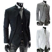 HEIßER 2017 Neue Mode Für Männer Casual Slim Fit Anzüge Blazer Männliche Business Casual Anzug Weiß Grau Schwarz Farben M-3XL(China (Mainland))