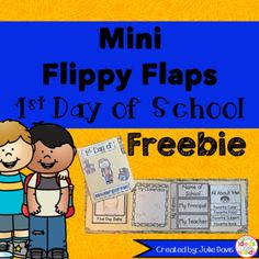 This is a great way to get for your students to welcome your students back to school and a great way for them to reflect on the first day! Students will create a mini accordion Flippy Flap 1st Day of School Book with various activities to help them with their back to school jitters.  Grades included: Preschool, Pre-K, Kindergarten, 1st grade, 2nd grade, 3rd grade  Girl and Boy Versions are available  Activities included:  - First Day Selfie - All About Me Flaps - My Favorites Flaps - What I…