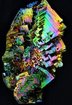 Erupting Eden Large Bismuth Metal Crystal Iridescent by Element83