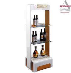 Floor wooden champagne wine display stand 1.  High quality wood flame 2.  Customized LOGO made from metal  plate on top and door. 3. Structure can be adjusted according to  customers requirements. Customized order welcomed.