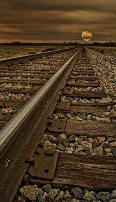 Moon by Train