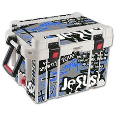 MightySkins Protective Vinyl Skin Decal for Pelican 45 qt Cooler wrap cover sticker skins Love Jesus *** Read more reviews of the product by visiting the link on the image.