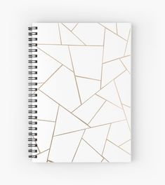 """""""Rose Gold White Geometric Glam Spiral Notebooks by anitabellajantz Cute Notebooks For School, Cute Spiral Notebooks, Diy Notebook Cover For School, Notebook Cover Design, Notebook Covers, School Suplies, Cool School Supplies, Bookbinding Tutorial, Cute Journals"""