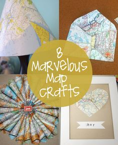 Marvelous Map Crafts | creative gift ideas