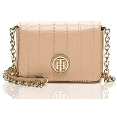 Tommy Hilfiger Nappa Leather Crossbody ($88) ❤ liked on Polyvore featuring bags, handbags, shoulder bags, tommy hilfiger crossbody, crossbody handbags, tommy hilfiger, tommy hilfiger handbags and beige purse