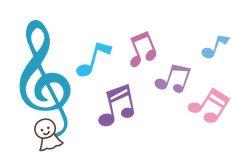 てるてる坊主ト音記号と音符イラスト Birthday Greetings, Symbols, Letters, Seasons, Logo, Music, Cover Pages, Musica, Logos