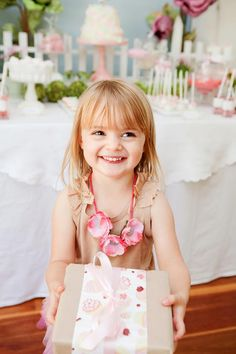 necklace Fairy Garden 3rd Birthday Butterfly Party - Karas Party Ideas - The Place for All Things Party