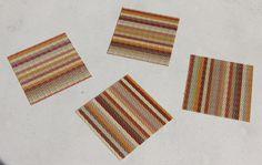 Warm Orange Vinyl Coasters, set of 4 by Chilewich NEW