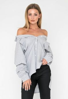 Shop the Fashion Edit Final sale for a limited time only Loose Fitting Tops, Boyfriend Shirt, Fast Fashion, Final Sale, Off Shoulder Blouse, Bell Sleeve Top, Casual, Cotton, How To Wear