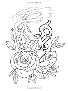 Dover Publications On Amazon Creative Haven Floral Tattoo Designs Coloring Book Erik Siuda
