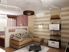 Top modern home interior design trends in the best wooden furniture sets designs, new living room decoration ideas, bedroom interior design, bathroom tile designs Studio Apartment Layout, Small Apartment Design, Small Apartment Living, Small Room Design, Small Living Rooms, Living Room Modern, Living Room Designs, Studio Apartments, Apartment Ideas
